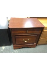 2 drawer nightstand cherry