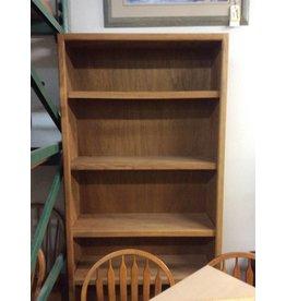 7' bookcase oak