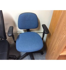 Office chair blue pads w/ arms