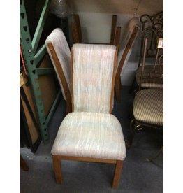4 chairs / oak padded