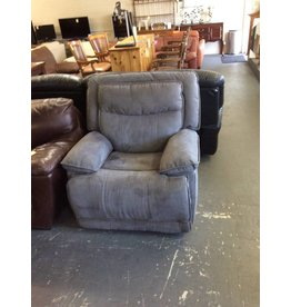 Electric rocker / recliner - blue leather