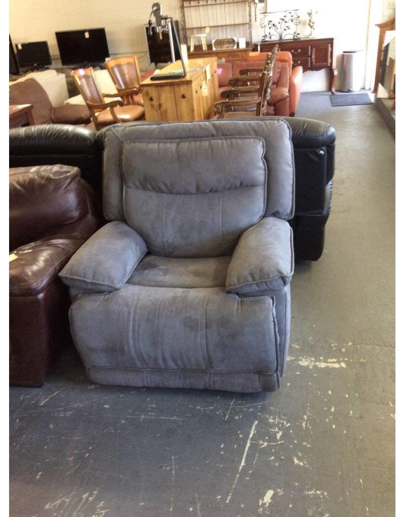 Electric rocker / recliner - blue leather