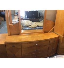 5 piece bedroom set Cal-king 2 tone maple