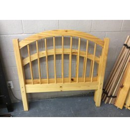 Twin bedstead w/ rails& slats pine