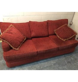 Sofa red tweed