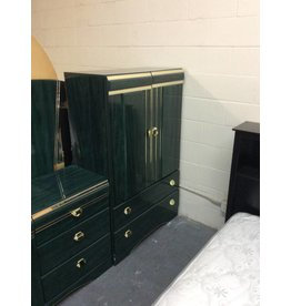 Clothes armoire / green n gold