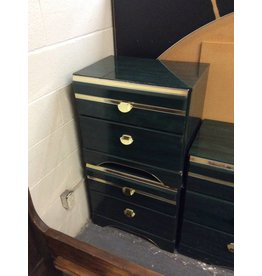 Pair 2 drawer NS / green n gold