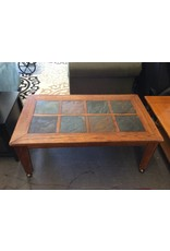 Coffee table / cherry n slate