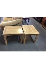 Pair end tables / light oak