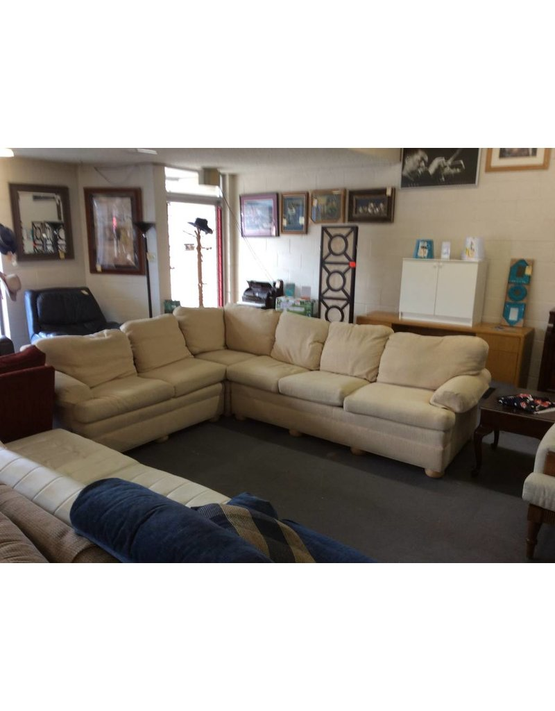 3 piece sectional  / yellow tweed