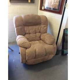 Swivel rocker recliner / tan micro.