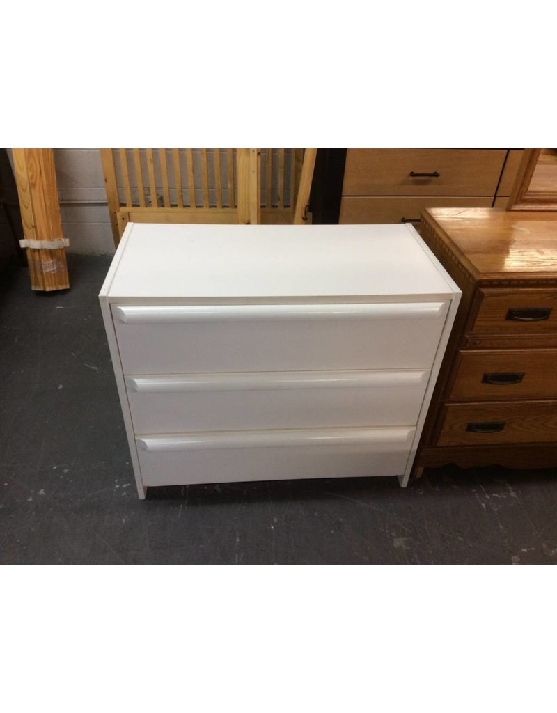 Small 3 Drawer Chest White Recycled Furniture