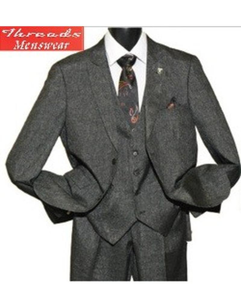 Stacy Adam Stacy Adam Vested 3 Piece Suit 5734-104 Brown Plaid