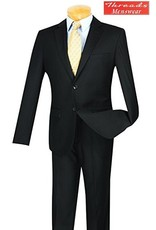 Vinci Vinci Ultra Slim Skinny Suit US900-1 Black