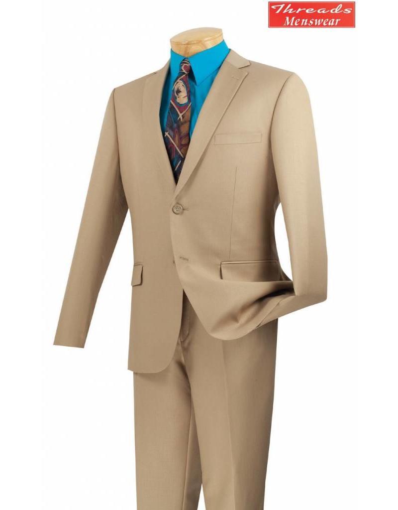 Vinci Vinci Ultra Slim Suit Beige US900-1