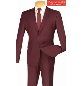 Vinci Vinci Ultra Slim Suit Burgundy US900-1