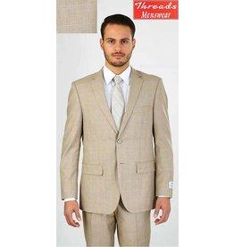 Lorenzo Bruno Lorenzo Bruno Modern Fit Suit M62WP Beige