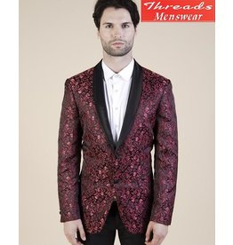 Barabas Barabas Slim Fit Blazer 17118 Black/Red