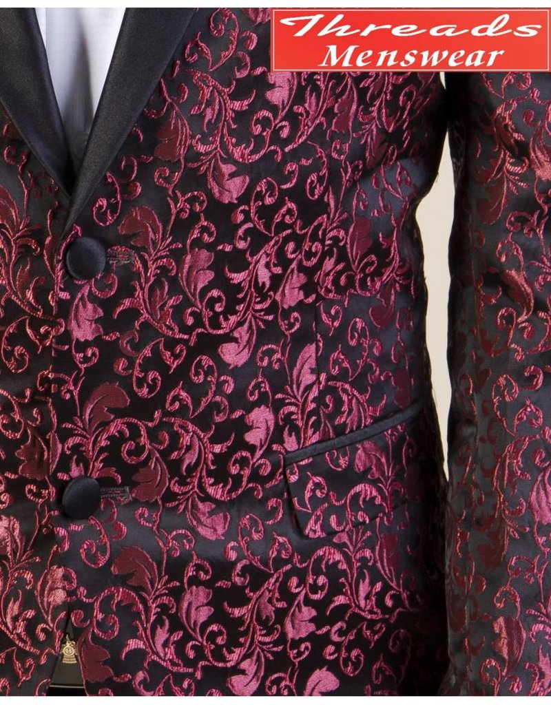 Barabas Barabas Slim Fit Blazer 17118 Black/Red
