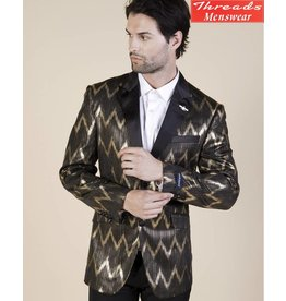 Barabas Barabas Slim Fit Blazer 17802 Black/Gold
