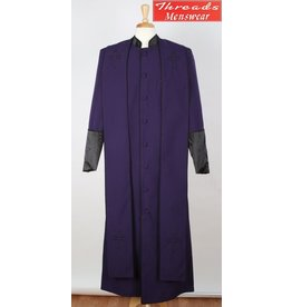 Royal Diamond Royal Diamond Robe & Stole - Purple/Black