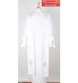 Royal Diamond Royal Diamond Robe & Stole - White/Gold