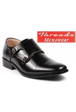 Majestic Majestic Monk Strap Dress Shoe 95702 Black