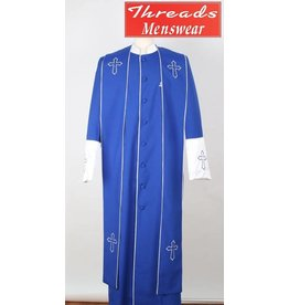 Royal Diamond Royal Diamond Robe & Stole - Royal/White