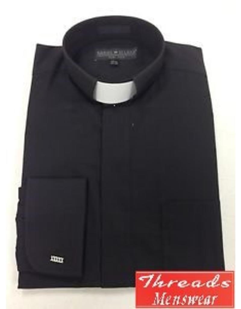 Daniel Ellissa Tab Collar Clergy Shirt -  Black