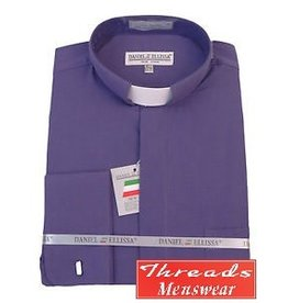 Daniel Ellissa Tab Collar Clergy Shirt -  Purple