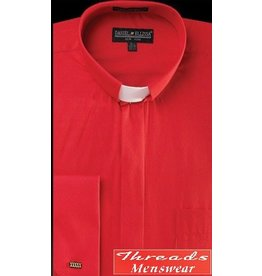 Daniel Ellissa Tab Collar Clergy Shirt -  Red