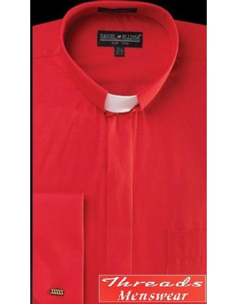 Daniel Ellissa Tab Collar Clergy Shirt -  Red