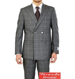 Lorenzo Bruno Lorenzo Bruno Double Breast Suit M662WD Gray