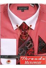 Avanti Uomo Avanti Uomo Chain Shirt Set - DN77M Red