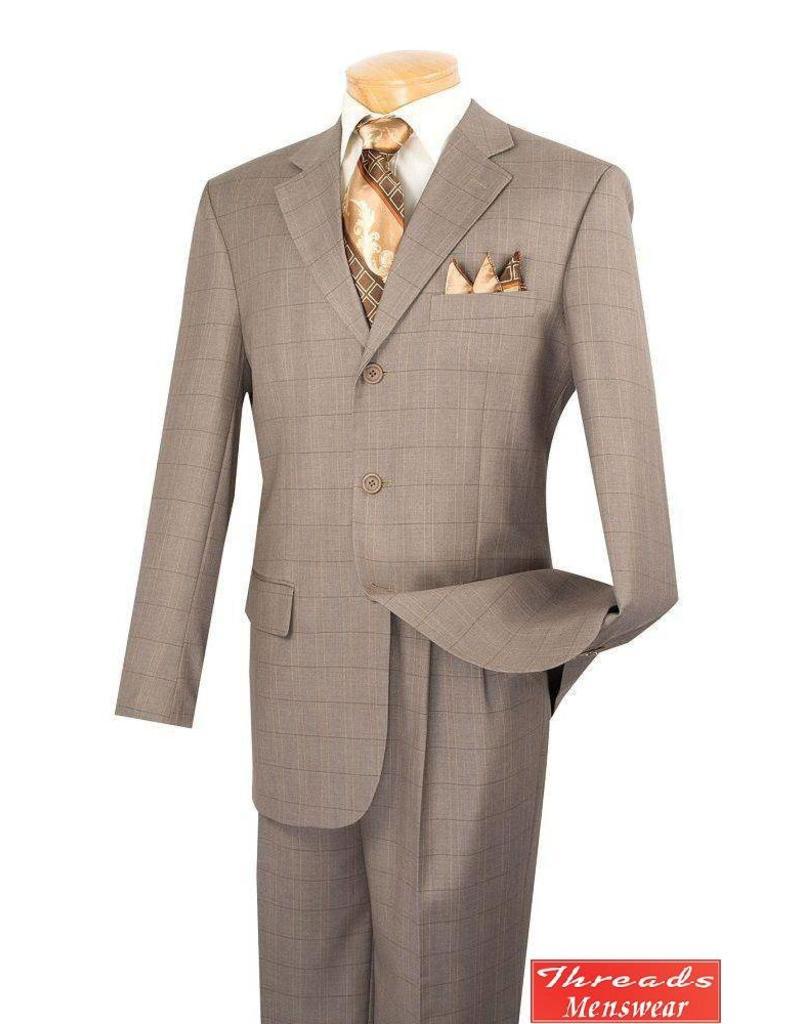 Vinci Vinci Windowpane Suit 3RW-15 Tan