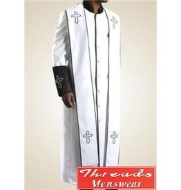 Royal Diamond Royal Diamond Robe & Stole - White/Black
