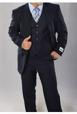 Lorenzo Bruno Lorenzo Bruno Vested Suit C602FV Navy Blue