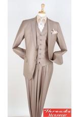 Royal Diamond Royal Diamond Vested Suit - CX6 Tan
