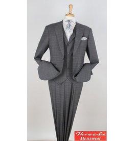 Royal Diamond Royal Diamond Vested Suit - W80206 Gray Check