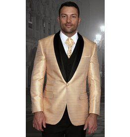 Statement Statement Bellagio-7 Suit, Vest, and Bow Tie - Gold