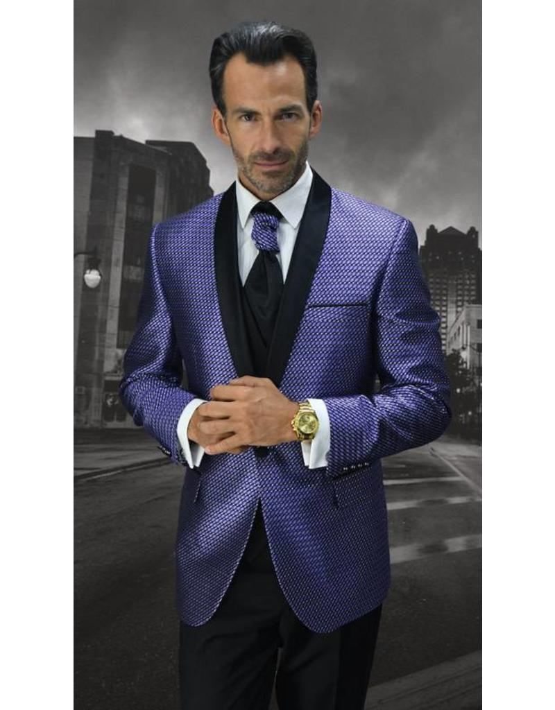Statement Statement Bellagio-7 Suit, Vest, and Bow Tie - Purple