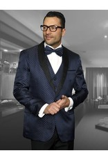 Statement Statement Bellagio-3 Suit, Vest, and Bow Tie - Blue