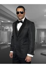 Statement Statement Bellagio-3 Suit, Vest, and Bow Tie - Black