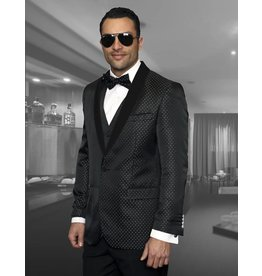 Statement Statement Bellagio-3 Suit, Vest, and Bow Tie - Black
