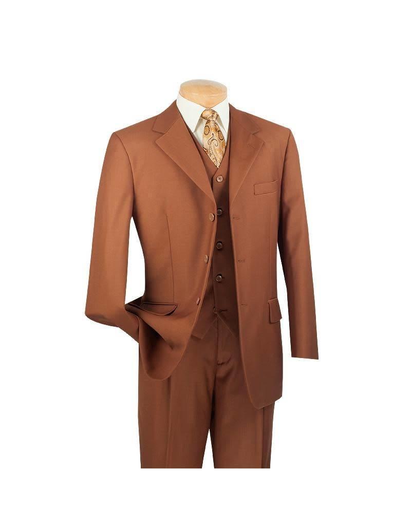 Vinci Vinci Vested Suit - 3TR Cognac