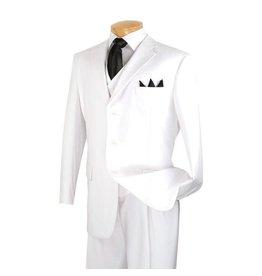 Vinci Vinci Vested Suit - 3TR White