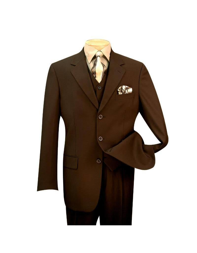 Vinci Vinci Vested Suit - 3TR Brown