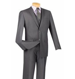 Vinci Vinci Slim Fit Vested Suit - SV2900 Heather Gray
