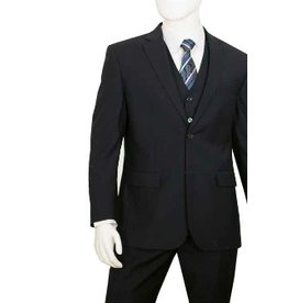 Lorenzo Bruno Lorenzo Bruno Vested Suit C602FV Black