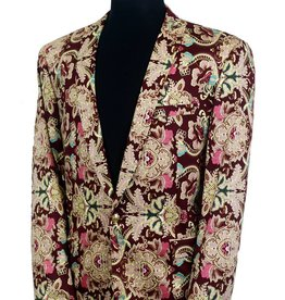 Hollywood Celebrity Hollywood Celebrity Blazer  Burgundy Multi